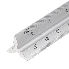 """30 سنتيمتر الألومنيوم المعادن مثلث مقياس المهندس المعماري حاكم تقني 12 """"قياس و قياس أدوات R08 Whosale و دروبشيب"""