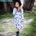 Líder urso 2016 Novos Vestidos de Roupas Meninas Dos Desenhos Animados Do Rato Crianças Estilo Autumn & Winter & Primavera Princesa Vestidos Roupa Dos Miúdos