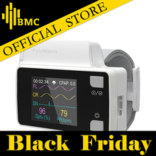 BMC YH-600B PolyWatch CPAP Sleep Diagnosis For Patient's Clinical Medical Home Care Available With Cannual TF Card Black Bag