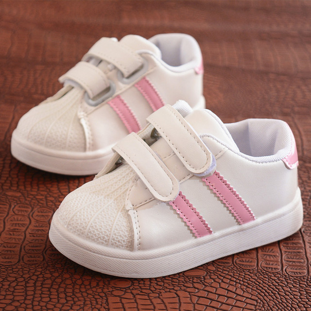 Children Shoes Girls Boys Sport Shoes Antislip Soft Bottom Kids Baby Sneaker 2018 New Casual Flat Sneakers white Shoes size21-30