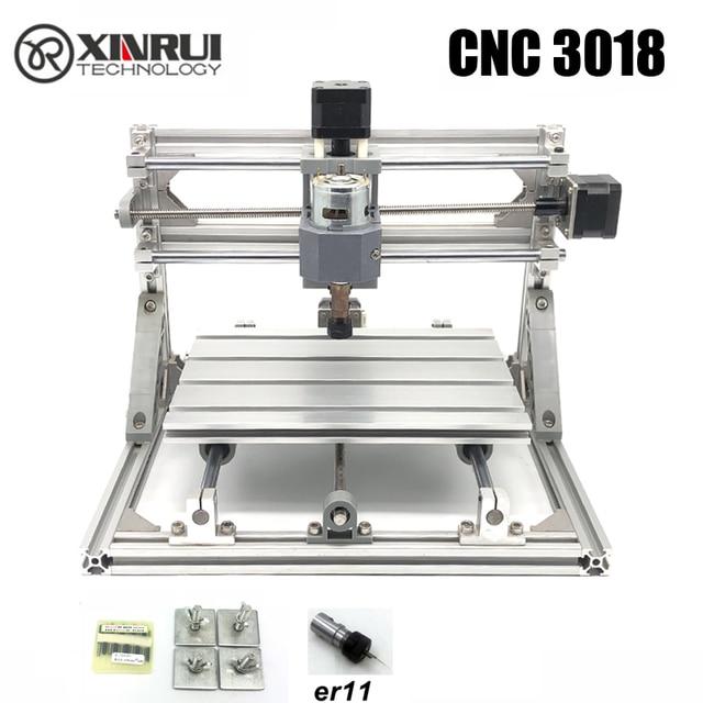 CNC 3018 ER11 GRBL control Diy CNC máquina de 3 ejes pcb fresadora máquina de enrutador de madera grabado laser grabado mejores juguetes