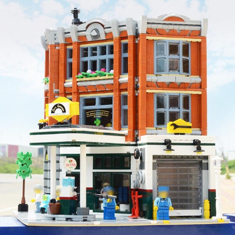 15042 créateur série coin Garage Compatible Legoing 10264 ensemble blocs de construction briques assemblé bricolage jouets anniversaire