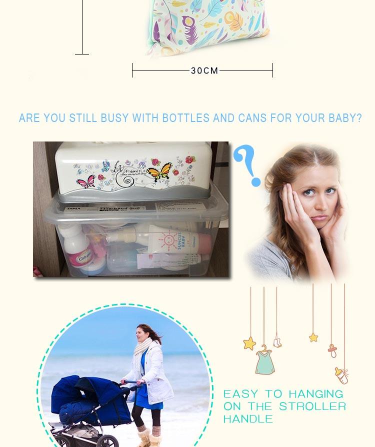 HTB1E18NaBjTBKNjSZFDq6zVgVXad HappyFlute Baby Diaper Bags Double Zippered Wet/Dry Bag Waterproof Wet Cloth Diaper Backpack Reusable Diaper Cover WetBag