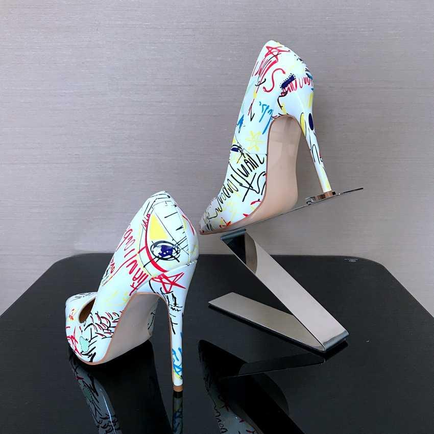 8/10/12 CM Nokta Toe Yüksek Topuklu Bayan Pompaları Seksi Platformu Yüksek Topuk Ayakkabı Kadın Düğün Topuklu süper Yüksek Parti Sandalet Kadın