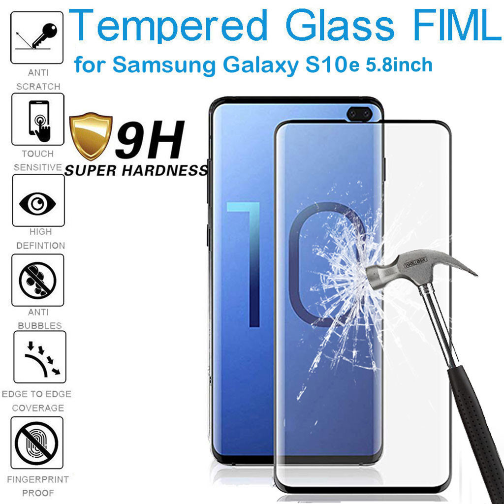 Samsung Galaxy S10e 5.8-inch 1PC HD 9H hardness tempered glass screen film anti-sweat anti-grease residual explosion-proof