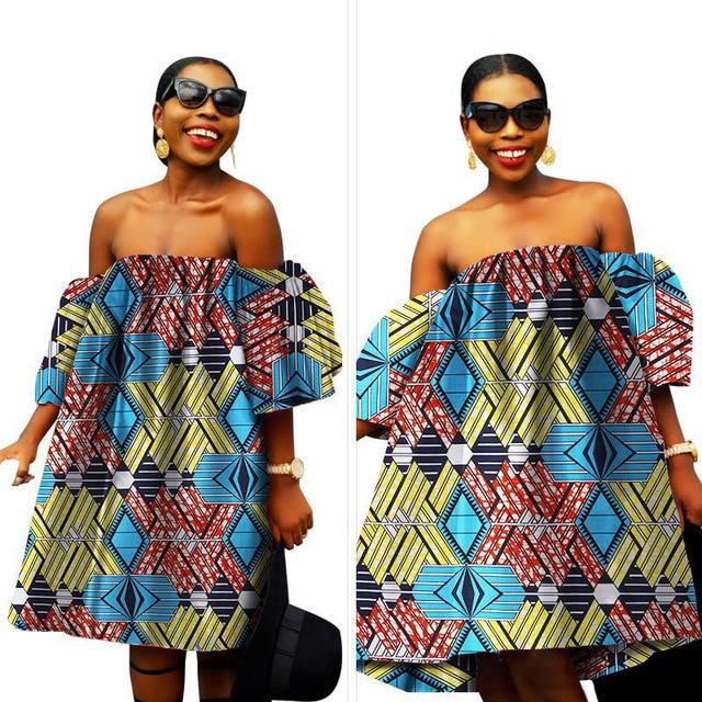 afrikaanse jurken voor vrouwen vestidos de schouder afrikaanse