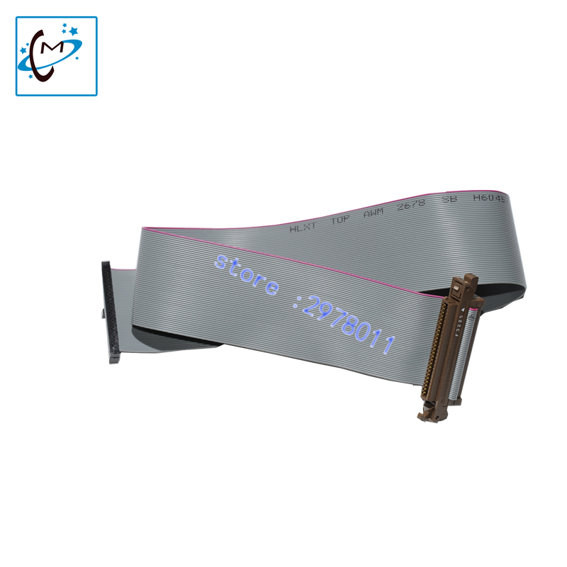 Top quality!!Eco solvent printer Flora spare parts LJ320K LJ3208K Konica KM 1024 print head flat data cable 50 pin 1pc for sale original printer printhead mainfold eco solvent print head capping cover for roland rs640 740 sj1045ex sj1000 vp300 vp540 xc540