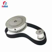 HTD5M Reduction Timing Belt Pulley Set 12T:60T 1:5/5:1 Ratio 80mm Center Distance Gear Kit Shaft 5M-360 Toothed Belt Pulley