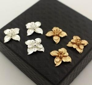 Image 2 - Leaf Flower Stamens Charms Brass Metal Findings DIY Stuffs DIY Jewelry Accessories Choose Colors