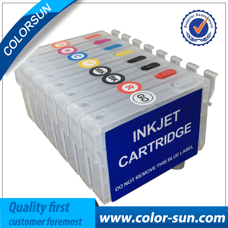 New 8 pcs T1590- T1599 Refillable Ink Cartridge For Epson Stylus Photo R2000 Printer With ARC Chips мужская одежда