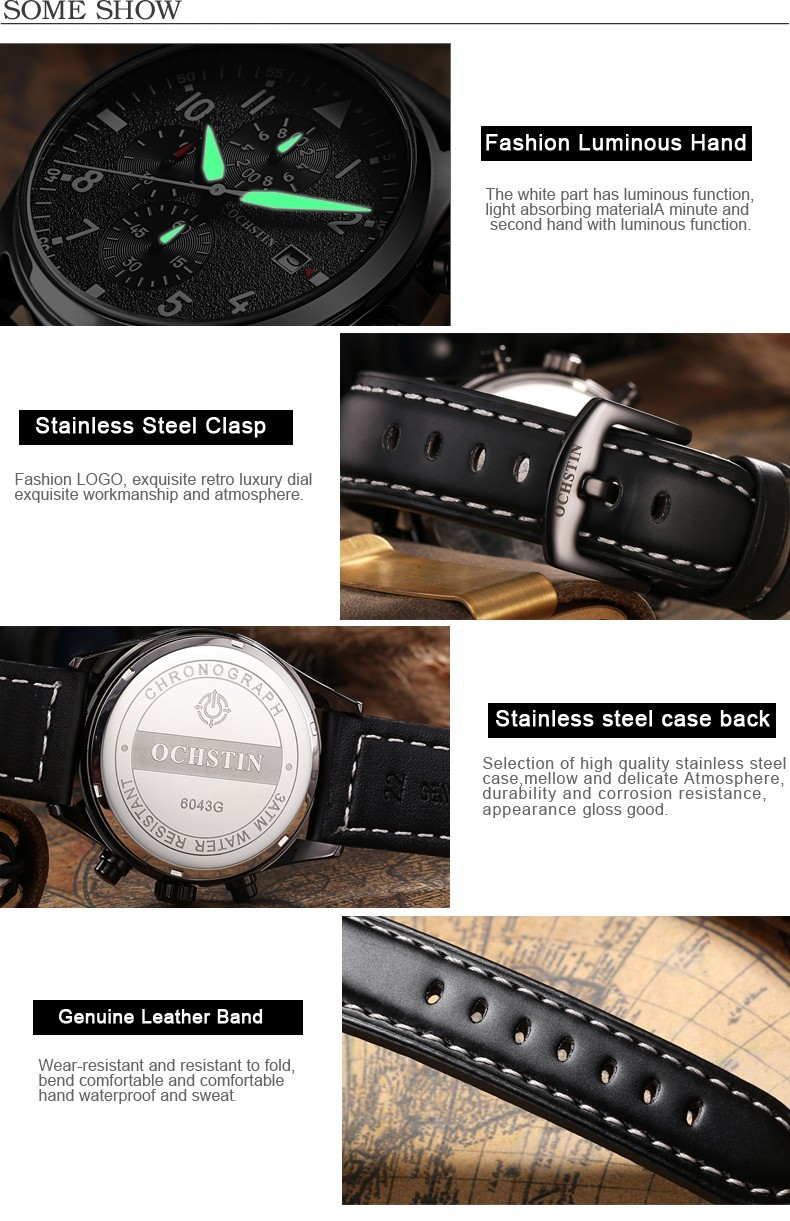 Zegarek Ochstin Infinity Czarny 7