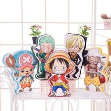 50cm 3D One Piece Anime Plush Pillow Luffy Sanji Zoro Choppe