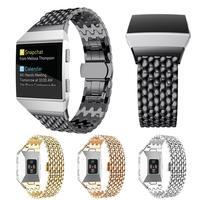 Carprie Novo Acessório de Moda de Luxo Em Aço Inoxidável Strap Watch Band Para Fitbit 17Oct12 Ionic Navio Da Gota