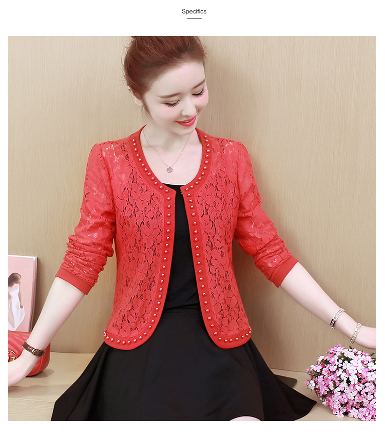 HTB1E190S9zqK1RjSZFjq6zlCFXae - Women Jacket Long Sleeve black hollow lace jacket women fashion women's jackets women coats and jackets women clothing B239
