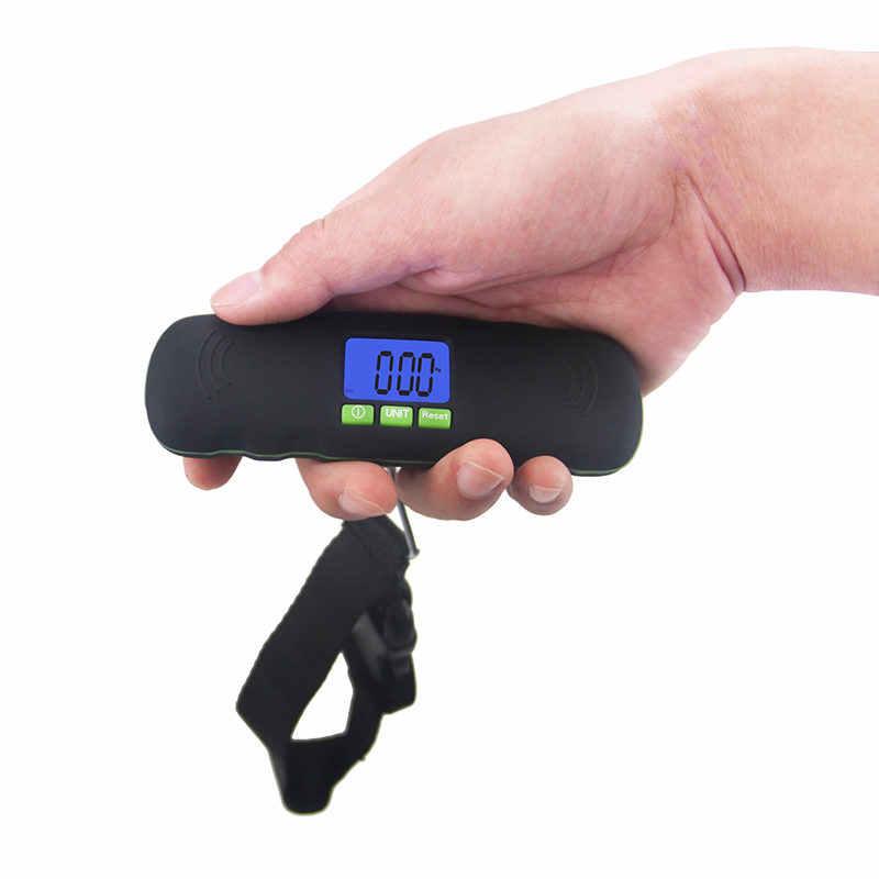 40 kg * 0.01 kg Mini przenośny bagaż waga waga wysoka precyzja elektroniczny kieszeń podróży bezbarwny hak do zawieszania cyfrowa skala