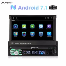 "Al por mayor! 1 DIN 7""android 7.1 radio del coche no reproductor de DVD navegación GPS Quad Core 2 GB RAM coche estéreo DAB + wifi Bluetooth headunit"
