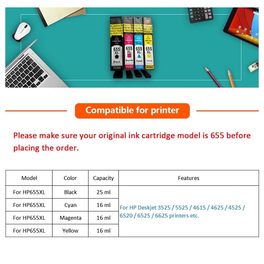 XiangYu для HP655 для hp 655 для hp655xl 655xl чернильный картридж для HP Deskjet 3525/4615/4625/5525/6520c принтер