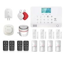 Wolf-Guard LCD GSM SMS RFID Wireless Home Alarm Security Burglar System 4 Door Sensor 4 PIR Detector 1 Smoke Detector 4 Keyfobs