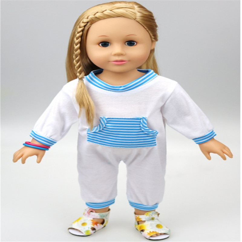 hot sale 18 inch american girl doll front pocket conjoined white knit clothes for a child 39 s toy. Black Bedroom Furniture Sets. Home Design Ideas