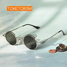 Toketorism vintage round frame small sunglasses uv400 protection retro men women trendy glasses 1039