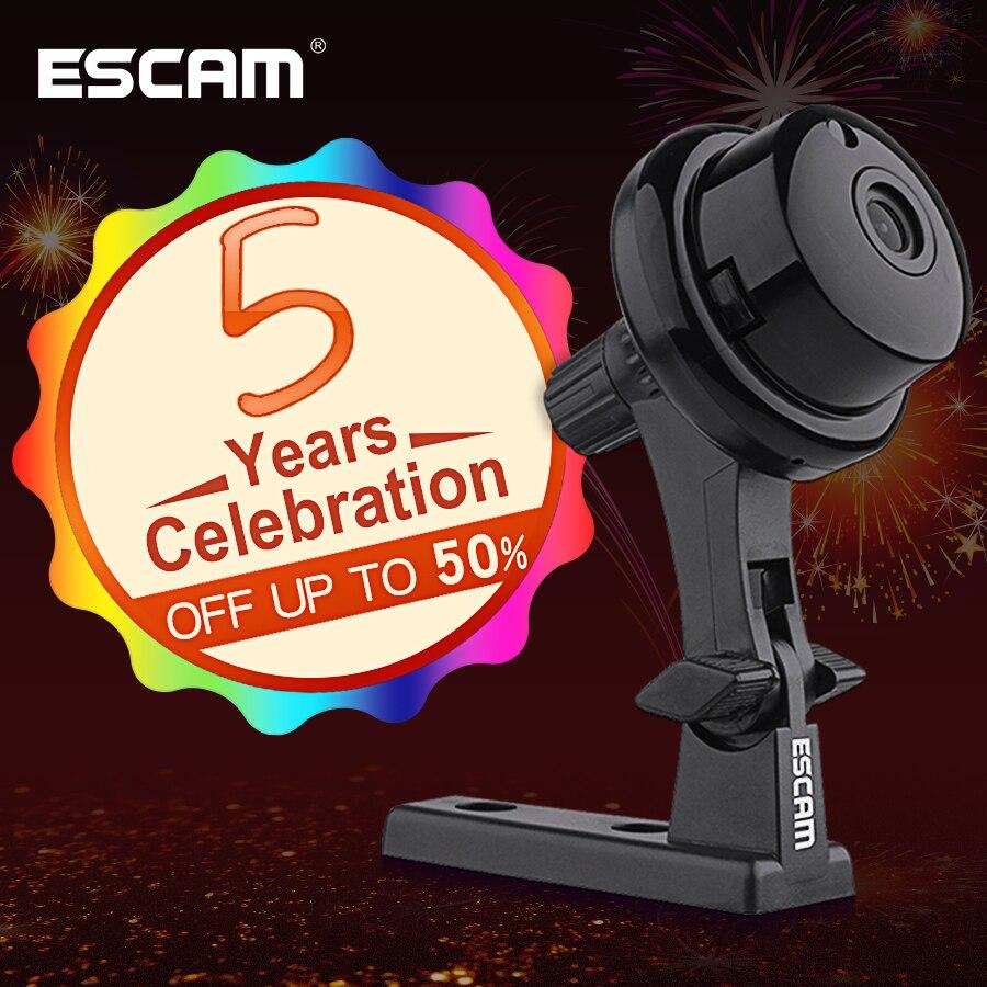 NOUVELLE Escam Bouton Q6 1MP sans fil mini caméra ONVIF 2.4.2 soutien affichage Mobile détecteur de mouvement et alarme D'email jusqu'à 128g YOOSEE