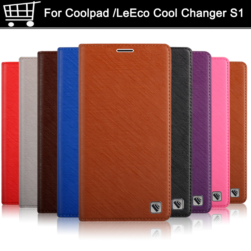 Flip leather For coolpad Cool Changer S1 S 1 C105 C105-6 case cover soft case for Leeco Cool pad Cool S1 S 1 shell case cover