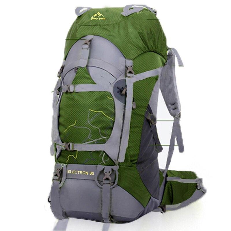 FengTu 60L Hiking Backpack Daypack For Men And Women Nylon ...
