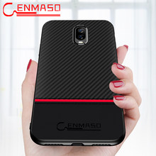 Oneplus 6T Case CENMASO Original Oneplus 6 6T 5 5T Carbon Fiber Leather Back case Cover one Plus 5T 5 6 6t ultra thin full cases(China)