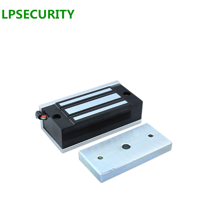 LPSECURITY font b Electronic b font Door Lock Mini Magnetic Locks 60KG DC 12VDC 24VDC 100LBS