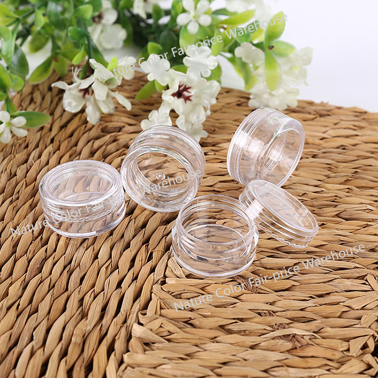 10pcs Empty Refillable Bottles Cosmetic Makeup Container Small Round Little Cream Jar