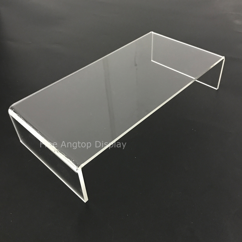 4pcs lot Customized 240x120x50mm Table Storage Display Riser Clear 4mm Thickness Strong Acrylic U Stand