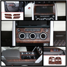 Luxury ABS Rose Wood Chrome For Land Rover Discovery 5 17-18 Car All Kinds of Interior Cover Trim Frame Decoration Styling