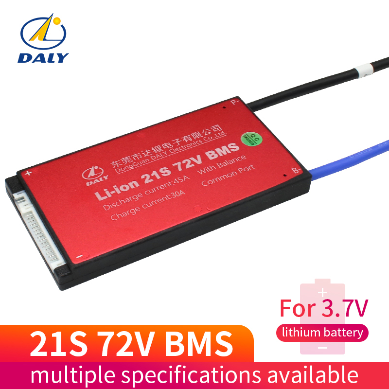 Daly 21S 25A 35A 45A 60A Lili ion Waterproof BMS For Rechargeable Lithium Battery With Same