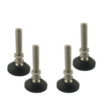 4pcs M10x50mm Adjustable Foot Cups Reinforced Nylon Base 50mm Diameter Articulated Feet M10 Thread Leveling Foot