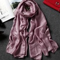 Viscose Cotton Scarf Women Foulard Femme Shawls Luxury Brand Scarves Ring Long Soft Solid Wrap Hijab Tassel 185*100 Sq094