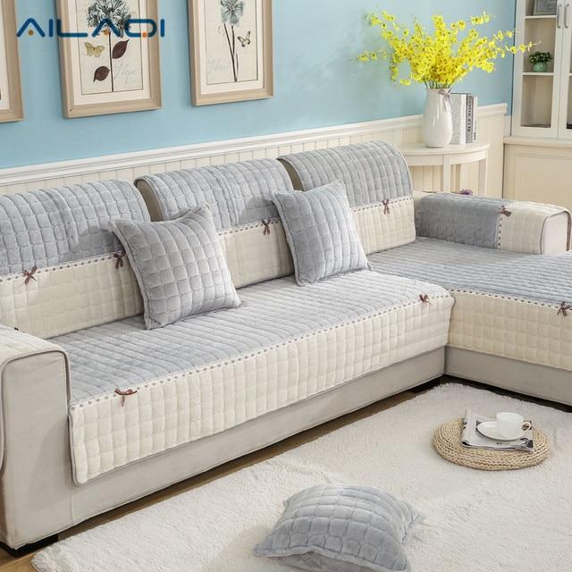 AILAQI Color Collision Classic Super Soft Short Plush Non   Slip Cloth  Fashionable Living Room Sofa