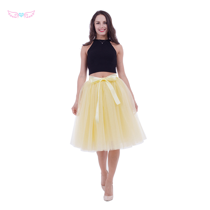 fca836662a Detail Feedback Questions about 5 layers 65cm Tulle Skirt Pleated ...