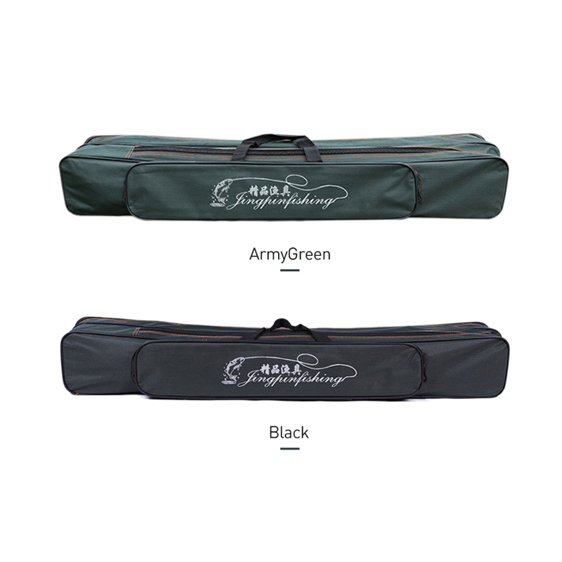 Image 3 - 2019 New Fishing Bags 2 Layer Multifunctional Fishing Bag  Rod Reel Lure nylon Pole Storage Carp Fishing Tackle Pouch XA40G-in Fishing Bags from Sports & Entertainment