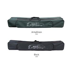 Image 3 - 2019 New Fishing Bags 2 Layer Multifunctional Fishing Bag  Rod Reel Lure nylon Pole Storage Carp Fishing Tackle Pouch XA40G