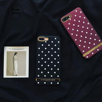 Fashion Retro Polka Dot Phone Case For Apple IPhone 7 7plus Case For IPhone 6s 6