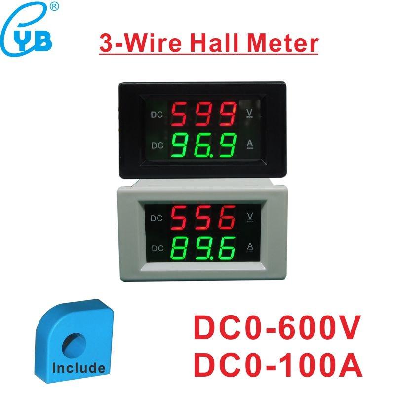 Dual LED Digital DC300V 20A Voltmeter Ammeter Voltage Amps Meter Power DC4.5~30V