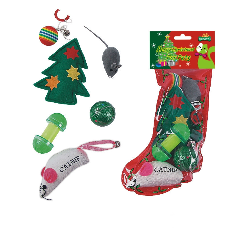 Toys For Fun : Cat toys with bell mouse merry christmas gift for pets