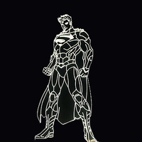 7 Color Changing Led 3D Superman Shape NightLight Luminaria Acrylic Table Lamp Home Decor Bedside Super