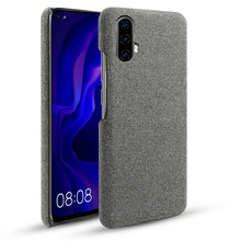 For Huawei Nova 5 Pro Case Slim Retro Anti-scratch Woven Fabric Cloth PC Hard Cover Shockproof