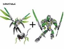 Smartable Bionicle Uxar Schepsel Van Jungle + Lewa Jungle Keepter Bouwsteen Speelgoed Set Voor Jongen Compatibel Alle Merken 71300 + 71305