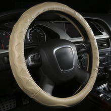Genuine Leather Car Steering Wheel Cover For Subaru Forester Legacy Outback Tribeca Impreza XV BRZ Auto Accessories