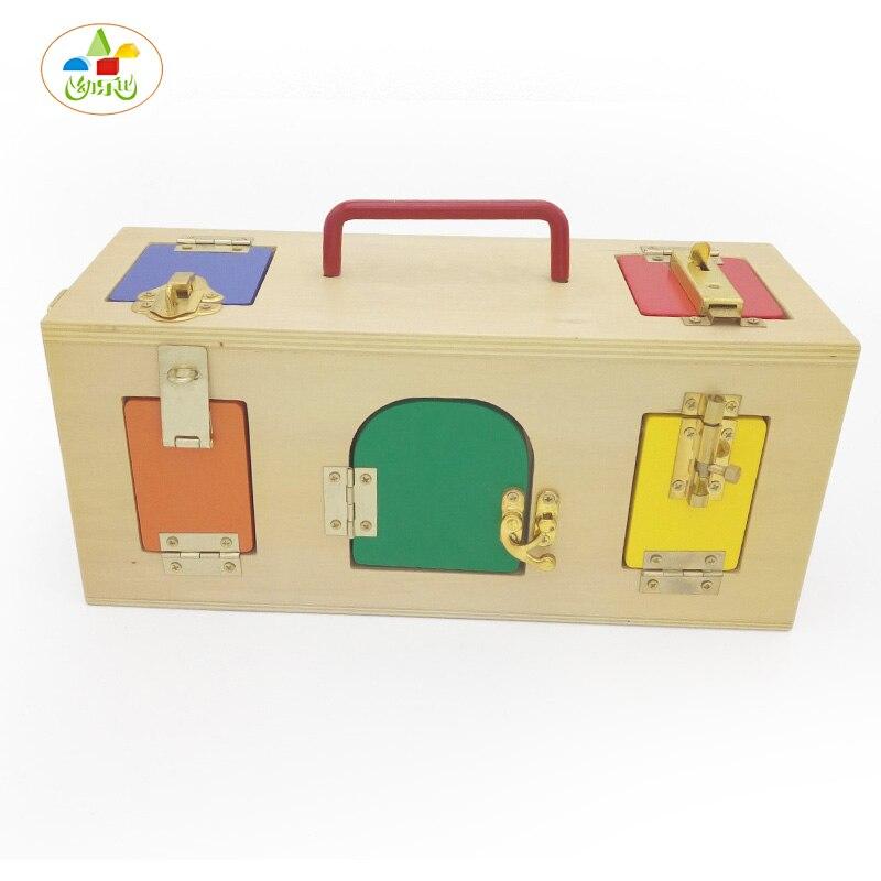 ФОТО YLB Montessori Educational Toy Unlocking Box Children's Ability Training Baby Wooden Toys 3-4-5-6 Years Creative Gift