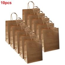 10pcs Packaging Fashion Durable Home Paper Wrap Christmas Shopping Handbag Gift Bag Gifts Multifunctional With Handles Storage