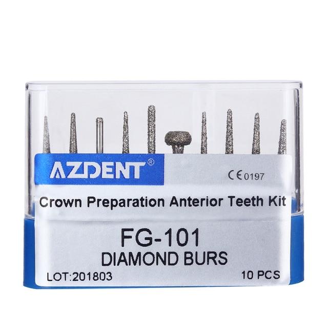 Dental Diamond Burs Drill for High Speed Handpiece Dentist Burs FG series Dia.1.6mm 3