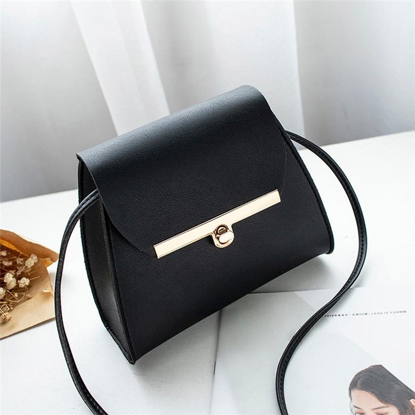 HOT!!! 2019 Simple Flap Shoulder Leather Bags Women Girls Pure Color Mini Messenger Chest Bag Cross Body Handbags Bolsa Feminina